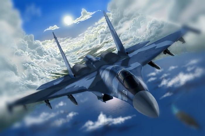 полет в небе