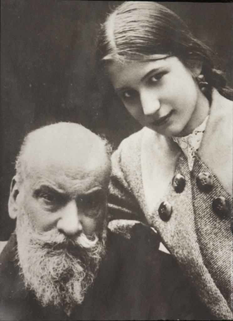 Николай Егорович и дочь Елена