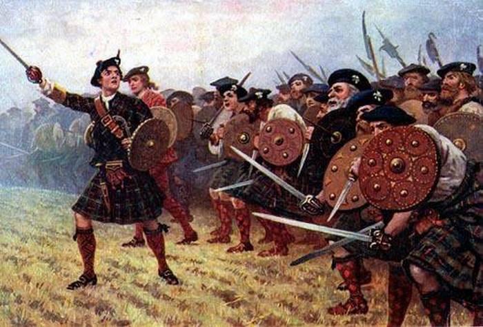 шотландский палаш в бою