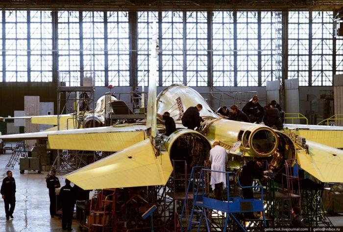 процесс производства Су-34