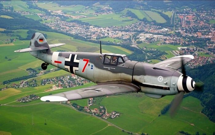Messerschmitt Bf.109 в полёте