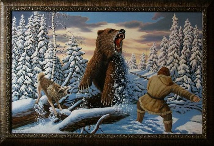 """картина """" Охота на медведя с рогатиной"""""""