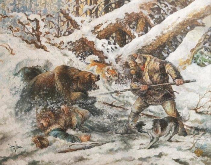 охота с рогатиной