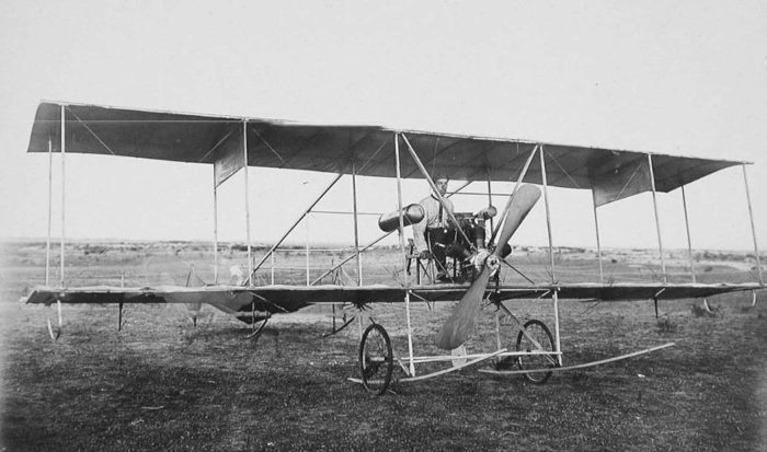первый полёт Сикорского на биплане БИС-2