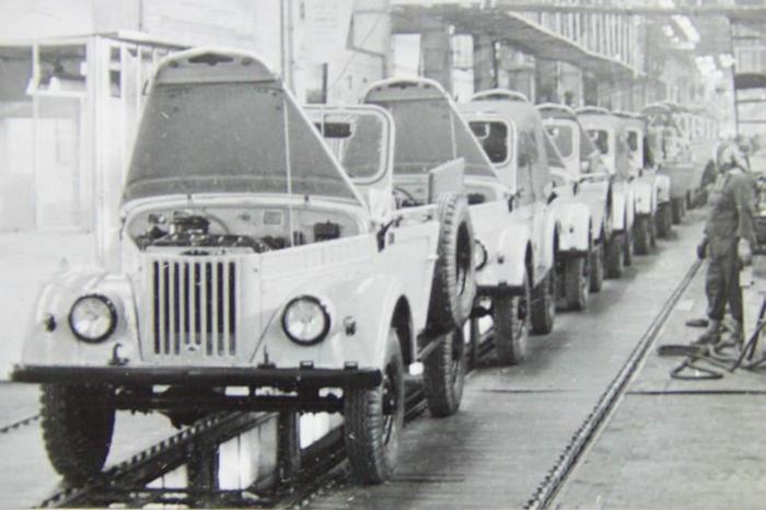 Газ-69 на конвеере