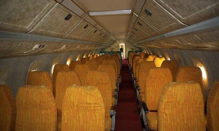 пассажирские места в самолёте Ту-144