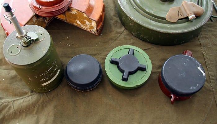 Противопехотные мины ОЗМ-72, ПМН-4, ПМН-2 и ПМН