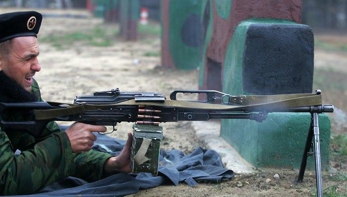 стрельба из пулемёта печенег