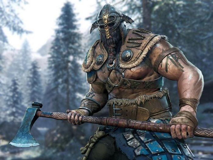 Изображение Викинга с топором на компьютерной игре