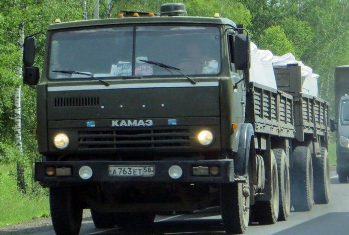 КАМАЗ 5320 с прицепом