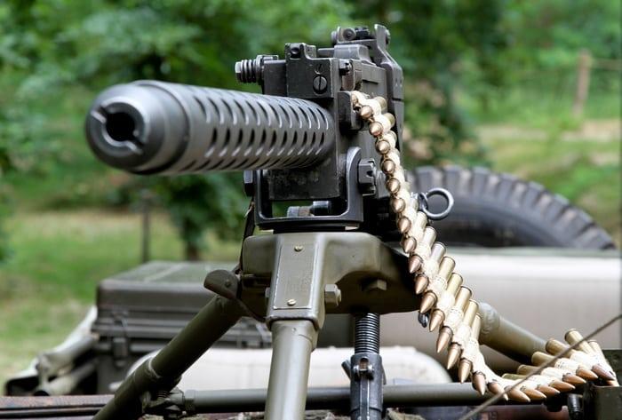 Браунинг M1919 с лентой