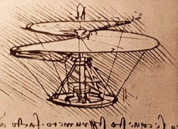 Воздушный винт Леонардо да Винчи,