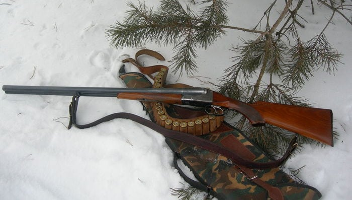 иж54 на снегу