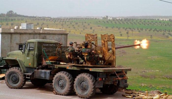 АЗУ С-60 на армейском грузовом автомобиле