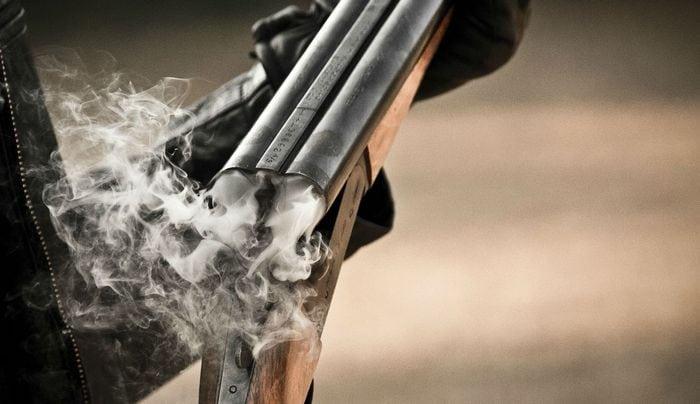 Дымный порох - после выстрела