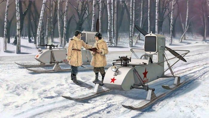 Советские, аэросани, рф-8