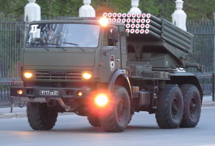 КамАЗ-5350 с ракетной установкой