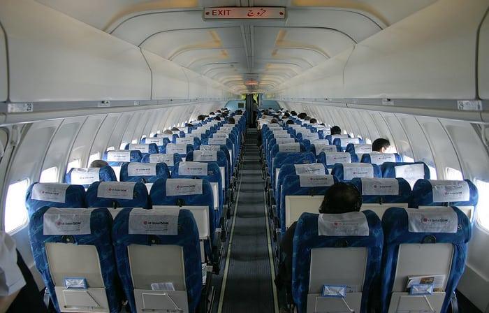 Боинг 727 салон