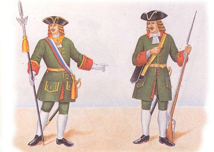 Армия при Петре 1