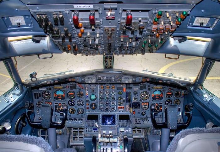 Боинг 727 кабина