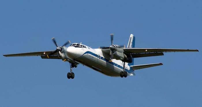 Ан-24 в небе