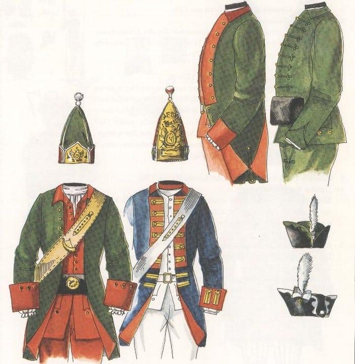 Военная форма при Павле 1