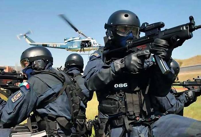 NOCS -антитеррористическое спецподразделение форма