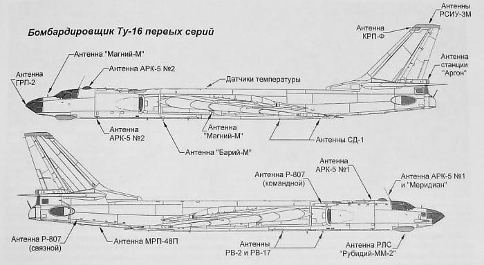 Конструкция бомбардировщика Ту-16