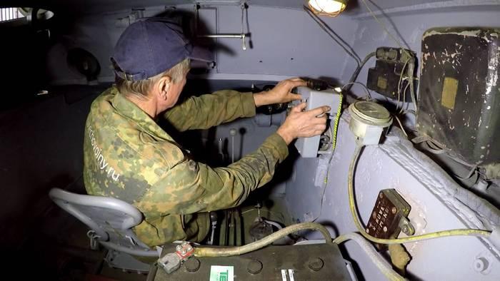Внутри танка кв 1