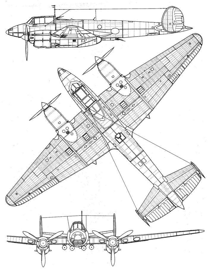 Пе-2 конструкция