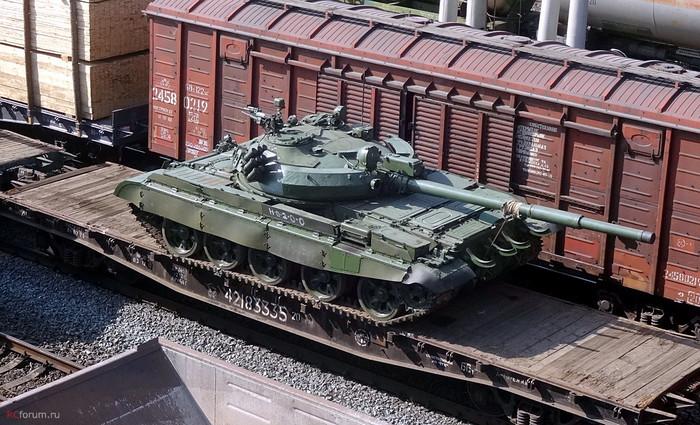 Т-62 на платформе
