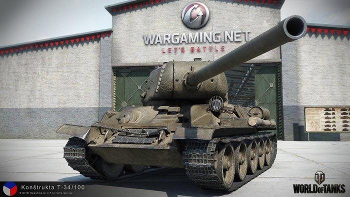 Т-34 100 в игре