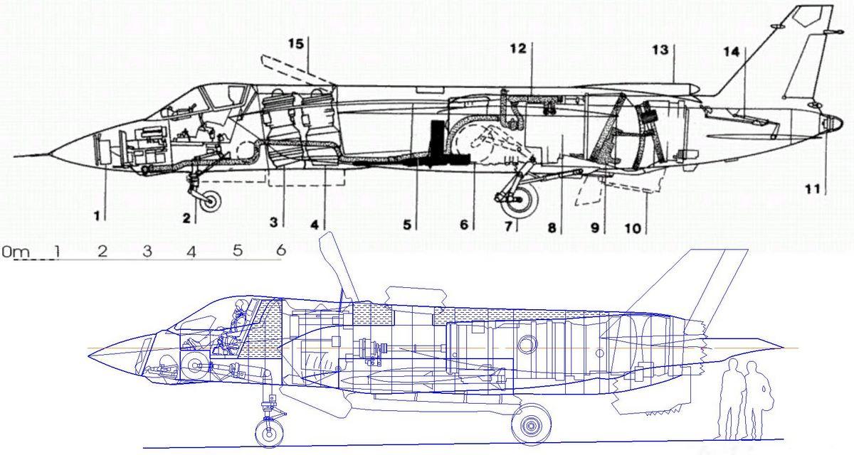 Самолёт як-141 чертёж