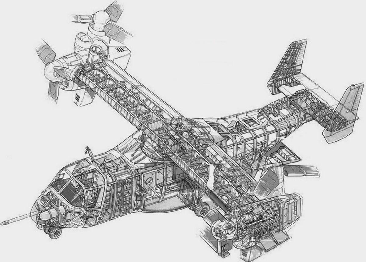 Bell V-22 Osprey конструкция