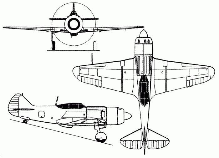 ЛА-7 конструкция