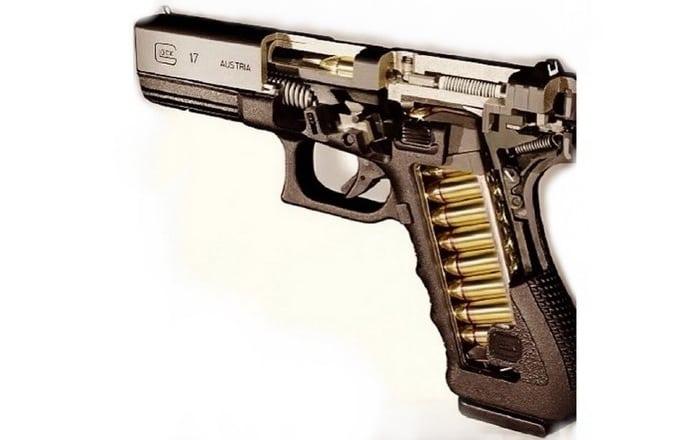 Разрез пистолета