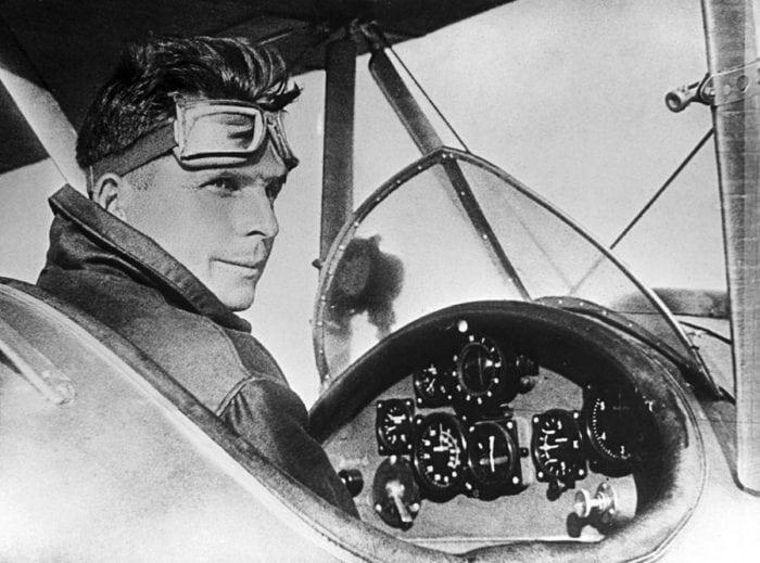 Ильюшин С.В. в кабине самолета