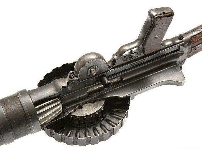 диск пулемета вид снизу