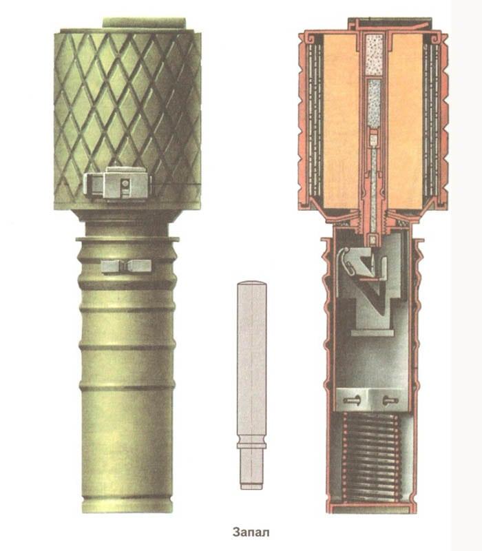 Внутри гранаты РГД 33 и запал