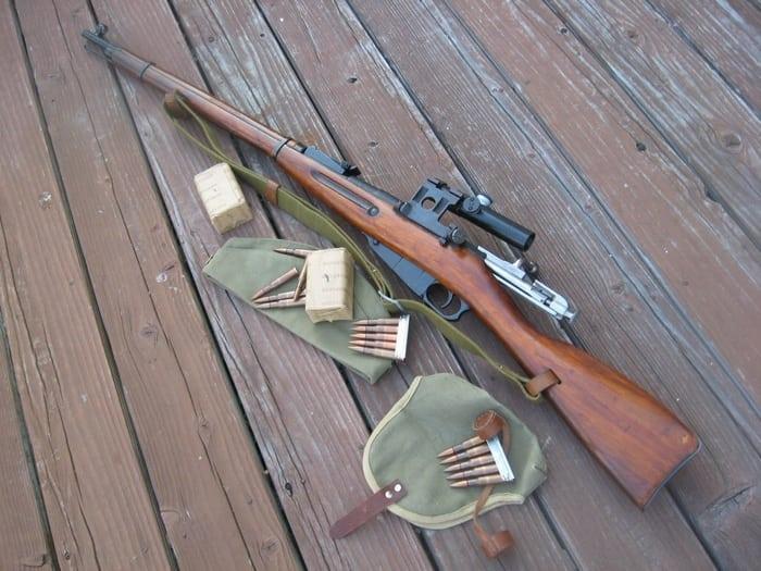 винтовка и патроны