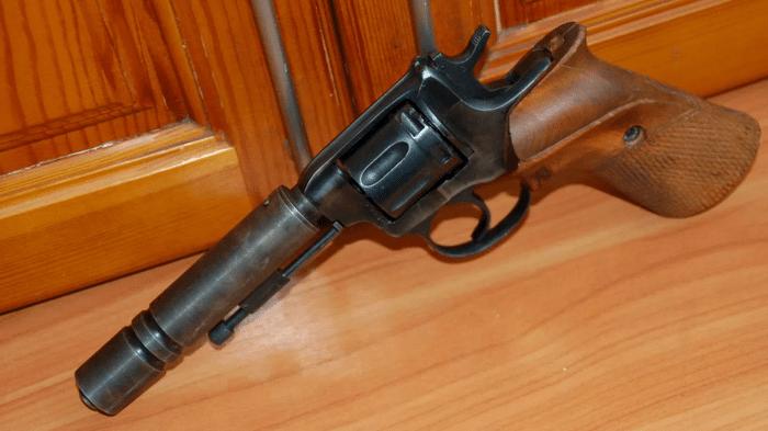 бесшумный револьвер