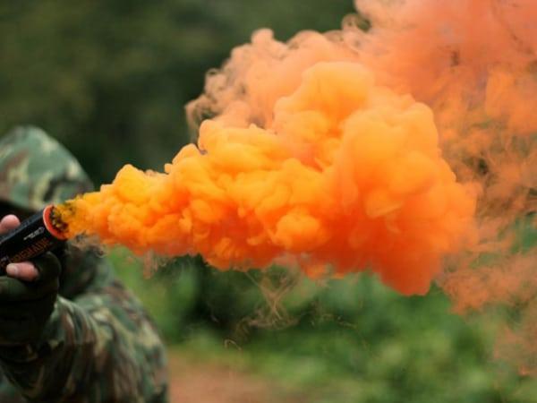 оранжевый дым