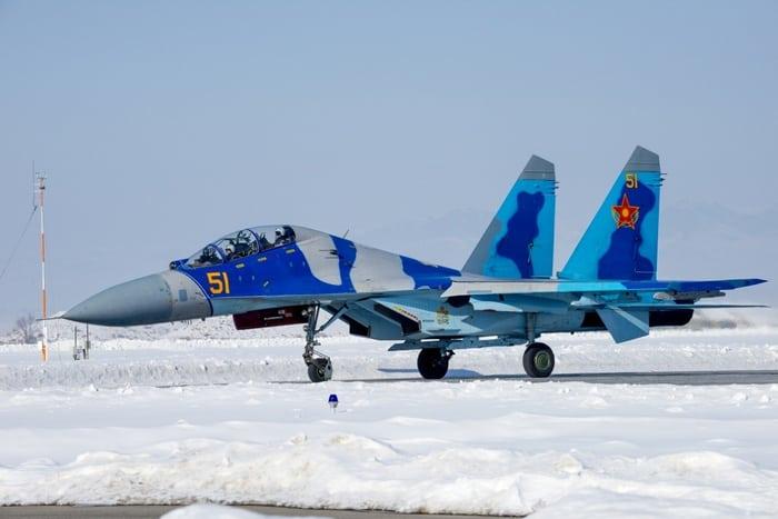 су-27 на снегу