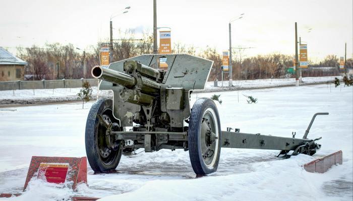 м-30 на снегу