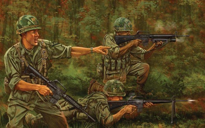 картина м-16 во вьетнаме