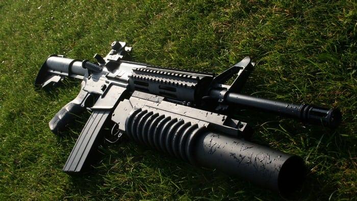 м-16 с подствольным гранатомётом