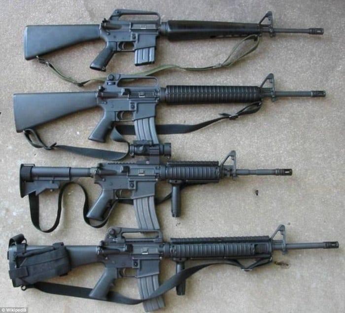 модификации м-16