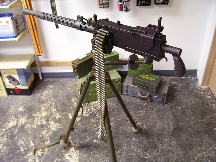 Browning M1919 на станке