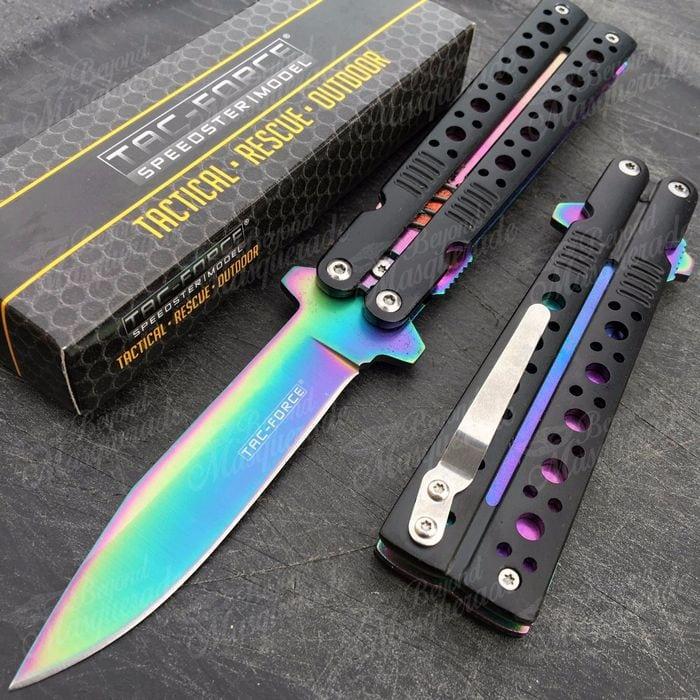 современный нож бабочка
