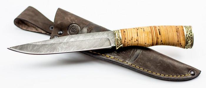 Ножи из дамаска с наборной ручкой